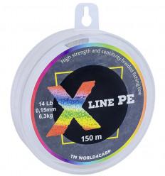Шнур плетёный X Line PE 150 m Multicolor