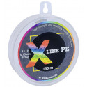 Шнур плетёный X Line PE 150 m Multicolor Ø 0,13 мм