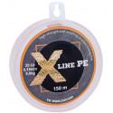 Шнур плетёный X Line PE 150 m Orange