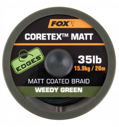 Поводочный материал Fox Edges Coretex Matt Weedy Green 20m