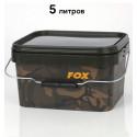 Ведро для рыбалки Fox Camo Square Bucket 5 л