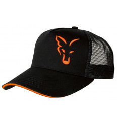 Кепка Fox Black/Orange Trucker Cap
