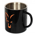 Термо кружка из нержавеющей стали FOX Stainless Black XL 400ml Mug FFF