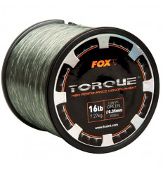 Леска карповая FOX Torque Carp Line Low Vis Green, 1 км