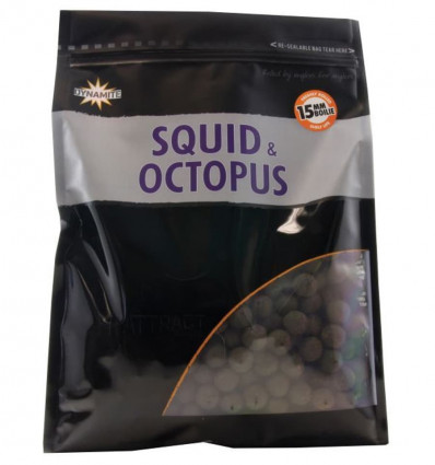 Бойлы вареные Dynamite Baits Squid & Octopus Hi-Attract, 1 кг