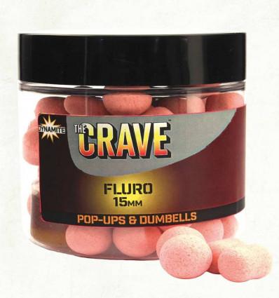 Бойлы плавающие Dynamite Baits Crave Pink Fluro Pop Up
