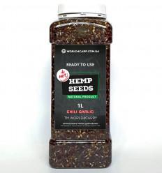 Конопля для рыбалки готовая Hemp seed Chili Garlic
