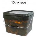 Ведро для рыбалки Fox Camo Square Bucket 10 л