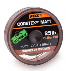 Поводочный материал Fox Edges Coretex Matt Gravelly Brown 20m