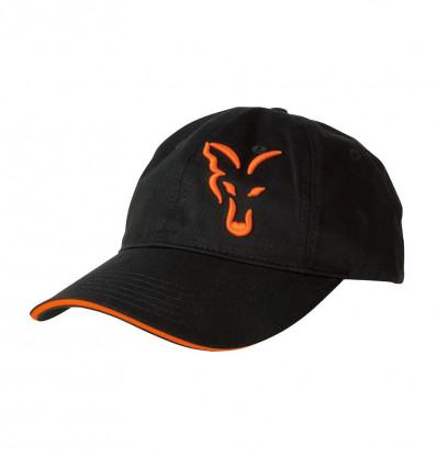 Кепка Fox Black/Orange Baseball Cap