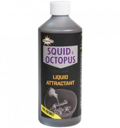Ликвид Dynamite Baits Squid Octopus Liquid Attractant 0.5 л
