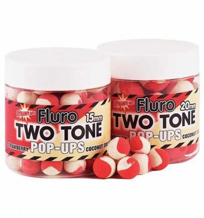 Бойлы плавающие Dynamite Baits Strawberry & Сoconut Cream Fluro Two Tone Pop-Ups