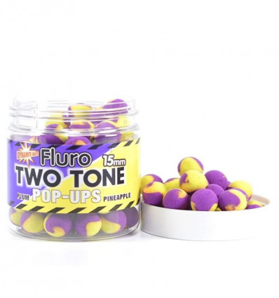 Бойлы плавающие Dynamite Baits Plum & Pineapple Fluro Two Tone Pop-Ups