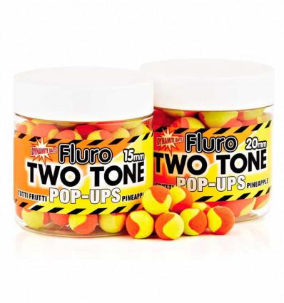 Бойлы плавающие Dynamite Baits Two Tone Fluro Tutti Frutti & Pineapple Pop-Ups