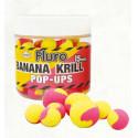 Бойлы плавающие Dynamite Baits Two Tone Fluro Banana & Krill Pop-Ups