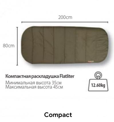 Раскладушка со встроенным спальником FOX Flatliter MK2 Bed & Bag System