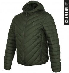 Куртка стеганая Fox Collection quilted Jacket Green - Silver