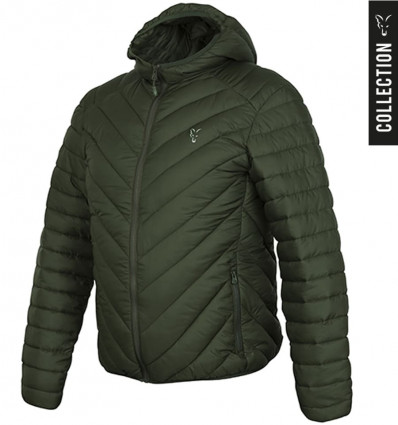 Куртка стеганая Fox Collection quilted Jacket Green - Silver, размер L