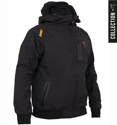 Куртка Fox Collection Black Orange Shell Hoody