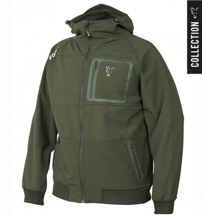 Куртка Fox Collection Green and Silver Shell Hoodie
