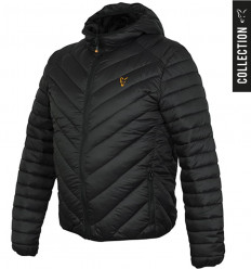Куртка стеганая Fox Collection quilted Jacket Black - Orange