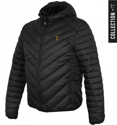 Куртка стеганая Fox Collection quilted Jacket Black - Orange