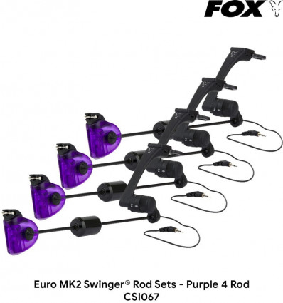 Свингера механические Fox Euro MK2 Swinger Rod Sets - Purple 4 Rod