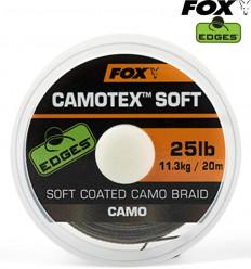 Поводковый материал в оплетке Fox Edges Camotex Soft 25lb - 20m