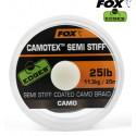 Поводковый материал в оплетке Fox Edges Camotex Semi Stiff 20m