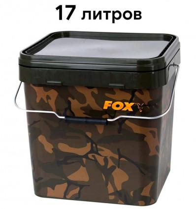Ведро для рыбалки Fox Camo Square Bucket 17 л
