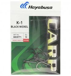 Карповые крючки Hayabusa K-1 черный никель