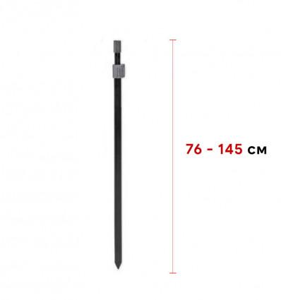 Телескопическая усиленная стойка CZ Black Power Bankstick 76-145 cm
