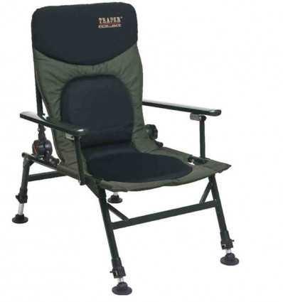 Карповое кресло с подлокотниками TRAPER Excellence