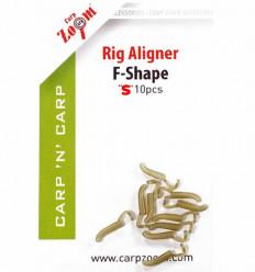 Адаптер для крючка S, Rig Aligner F-Shape, лентяйка 10 шт.