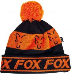 Шапка FOX Black/Orange - Lined Bobble Hat