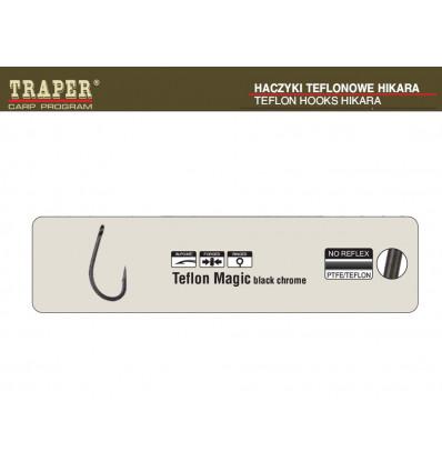 Карповые крючки с тефлоновым покрытием Traper Teflon Magic black chrome