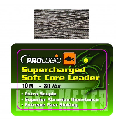 Ледкор Prologic Supercharged Soft Core Leader 10m Camo Silt