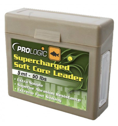 Ледкор Prologic Supercharged Soft Core Leader 5m 50lbs Camo Silt