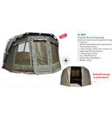 Карповая палатка с накидкой Carp Zoom Frontier Bivvy & Overwrap